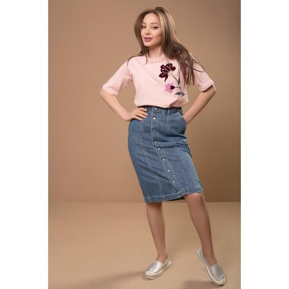 BOSSINI Woven Denim Skirt