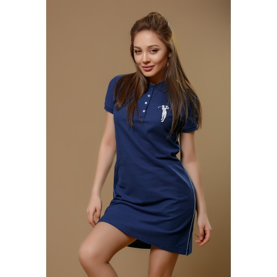 BOSSINI KNITTED POLO DRESS