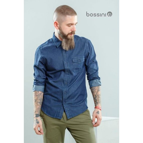 BOSSINI WOVEN DENIM SHIRT