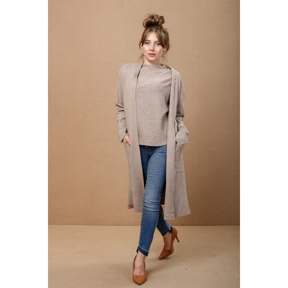 GLO-STORY Knitted Long Cardigan
