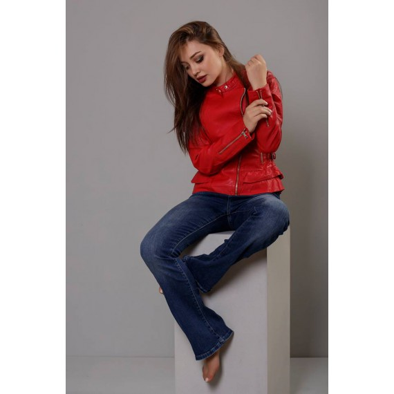 GLO-STORY PU Leather Jacket